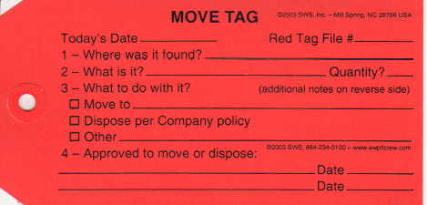 Red Move Tags (Bundles of 50)