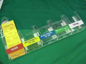 Plastic Tag Pockets Set of Five