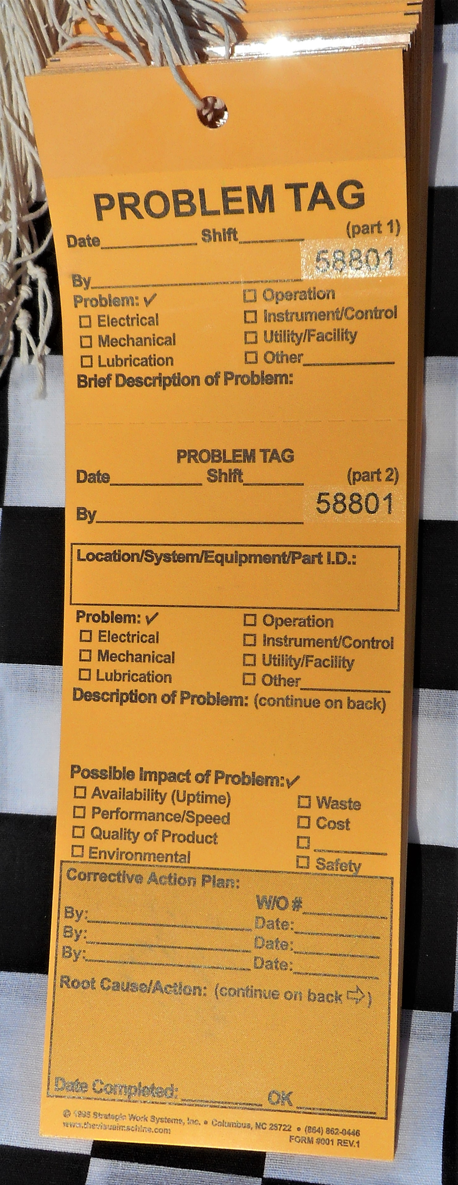 Problem Tags In Card Stock (Bundles of 50)