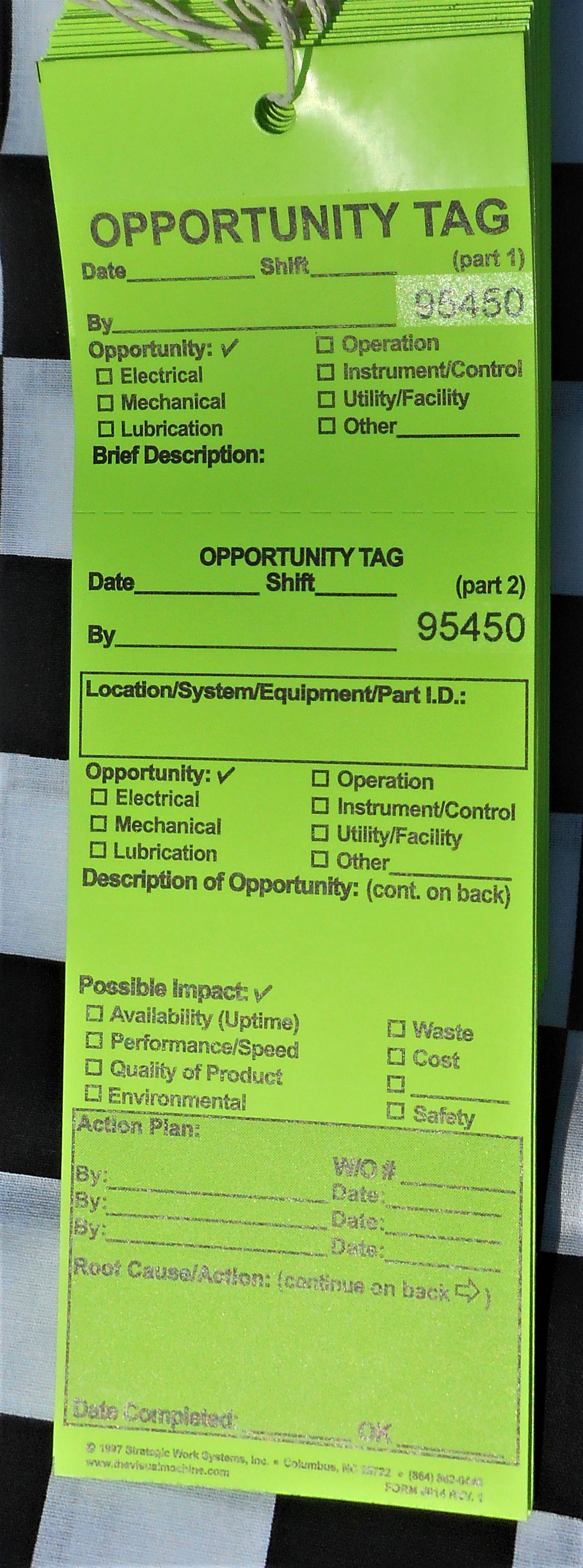 Opportunity Tags in Card Stock (Bundles of 50)