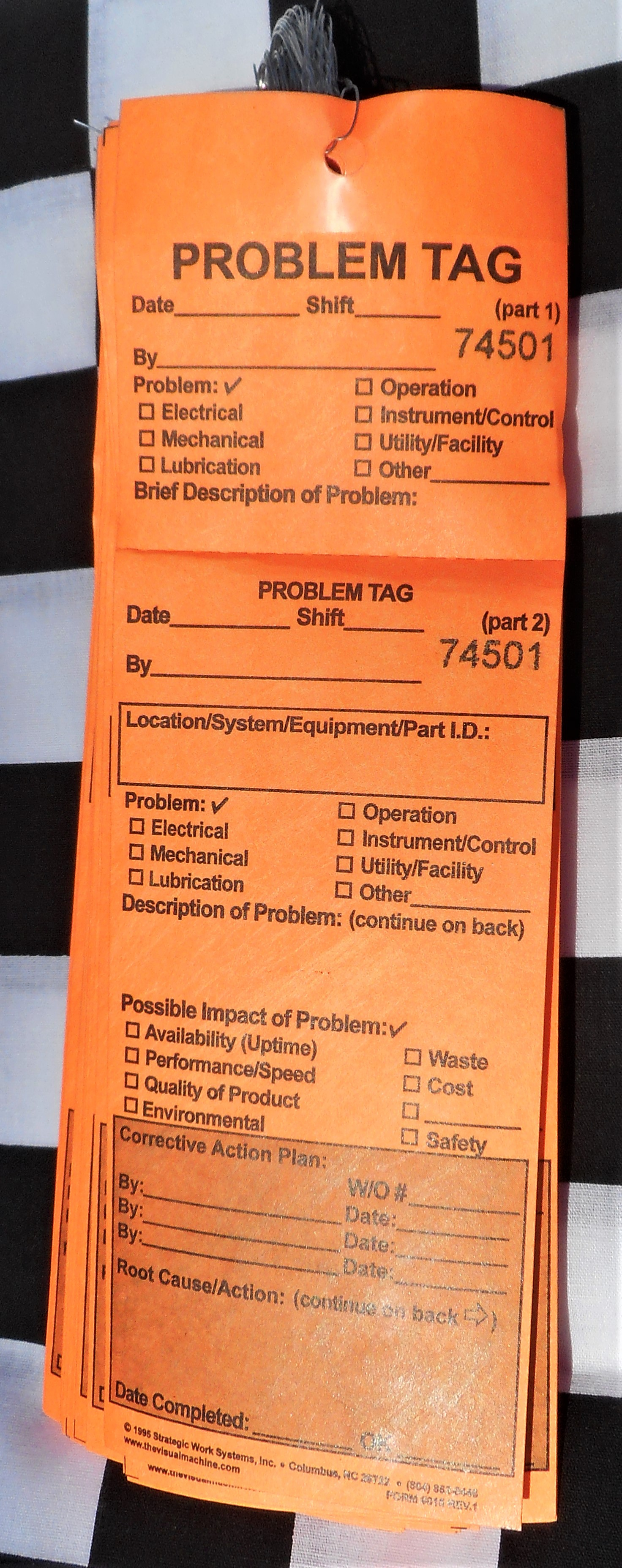 Problem Tags in Tyvek (Bundles of 50)