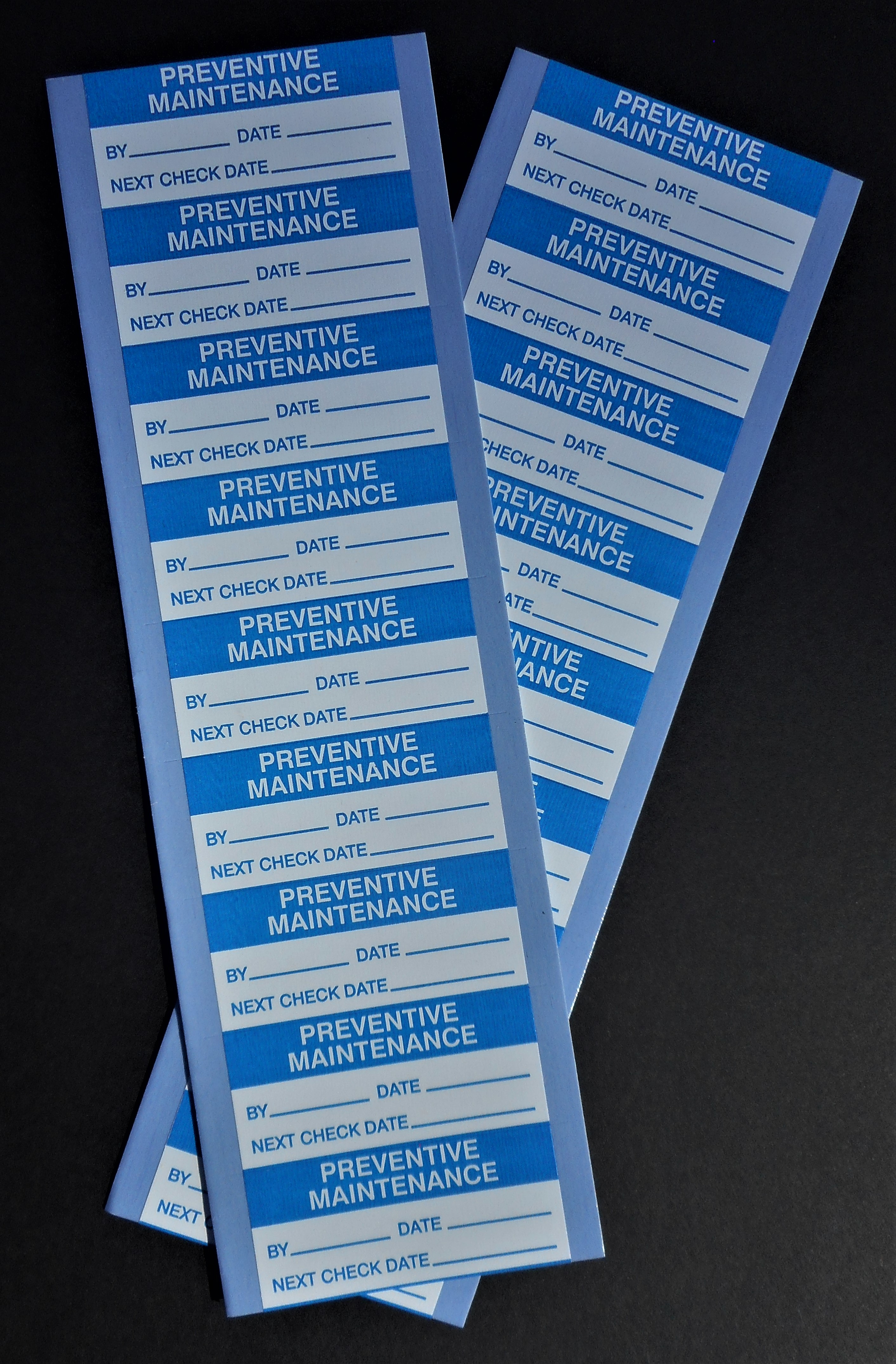 Preventive Maintenance Labels (Packs of 90)